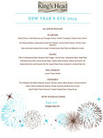 Our New Years Menu