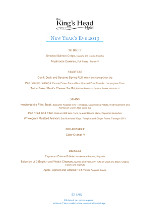 Our New Year Menu